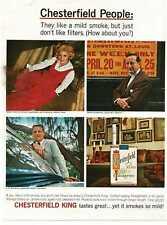 1964 CHESTERFIELD cigarettes People Frankfurt Landesman Richards Vintage  Ad