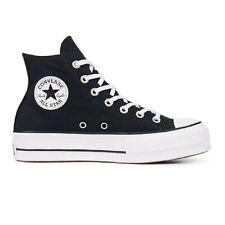 Scarpe da Donna Converse Platform Hi Sneakers Plateau Zeppa Tela Nera Numero 37