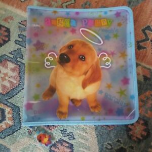 Lisa Frank Angel Puppies Zipper 3 Ring Binder Puppy