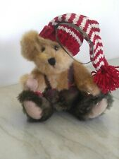 1988-2002 ~Boyds Bear Ornament ~Christmas Hat ~Plush ~Jointed ~6""