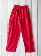 GRINGO fair trade NEPALESE cotton CARGO TROUSERS baggy COMBATS hippy PANTS RED