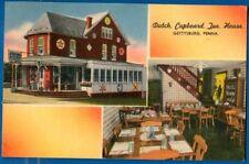 Dutch Cupboard Tea House, Gettysburg, Pennsylvania 1958 - Linen Postcard