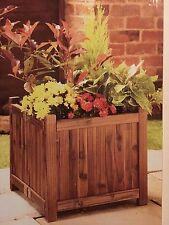 NUOVA fioriera in legno Mangiatoia in legno pieghevole da giardino quadrato vaso