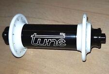 Tune Mig 70 24-Loch schwarz weiß VR-Nabe LRS front hub Retro Road black white