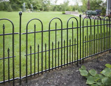 New listing PANACEA  METAL TRIPLE ARCH TRADITIONAL RAILING FENCE x 6 plus 8 connecting posts