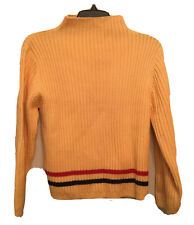 Patagonia Large Girl's Sweater Mock Neck Ribbed Pullover Top