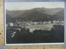 Rare Antique Original VTG 1913 Rapallo On Riviera Italy Photogravure Art Print