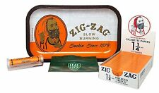 Bundle - 4 Items - Zig Zag Rolling Tray, Zig Zag Orange 1 1/4 Rolling Papers