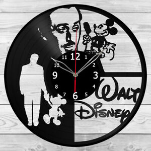 Vinyl Clock Walt Disney Retro Car Record Wall Clock Home Art Decor Handmade 5982