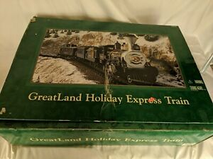 GreatLand Holiday Express Battery Operated Train Set Blue Missing Coal Car