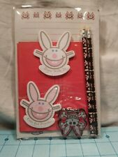 *RARE* 1990's Happy Bunny Stationary Set by Artist Jim Benson - New in Package