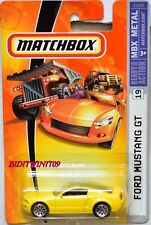 MATCHBOX 2007 MBX METAL FORD MUSTANG GT #19 YELLOW