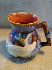 Antique Staffordshire Shorter and Son England Majolica Fish  Shells Pitcher