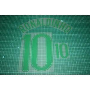 Flocage RONALDINHO N°10  BRESIL patch football shirt Brasil Brazil Maillot