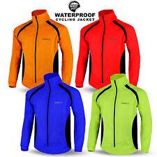 Mens Cycling Rain Jacket Waterproof Hi Visibility Running Full Sleeve Top Coat