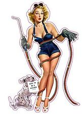 """Learning How to Weld Pin Up Girl Decal is 6"""" x 4"""" in size. Free Shipping"""