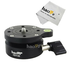 Haoge HDY-55 55mm Tripod Leveling Base Ball Head with Offset Bubble Level