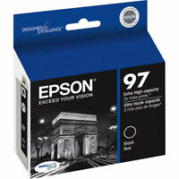 Genuine Epson 97 T0971 Black Ink Cartridge T097120 New Sealed
