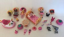 3 Lalaloopsy Mini Dolls Misty Mysterious Dot Starlight Moments in Time Bed