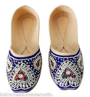 Women Shoes Indian Mojari Traditional Leather Oxfords Handmade Jutti US 6-11