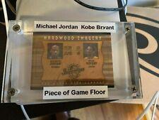 2002 UPPER DECK INSPIRATIONS MICHAEL JORDAN-KOBE BRYANT GAME USED FLOOR CARD $$$