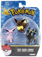 TOMY Pokemon Monster Eevee Espeon Umbreon Evoli Noctali Figure Sef of 3PCS Toy