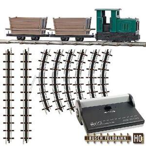 Busch Ho 12001 Field Railway Start Set With Gate Floren New