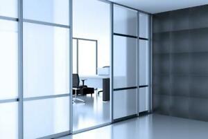 Matt White Frosted Privacy Window Film Glass Sticky Back Glass Adhesive 60% VLT