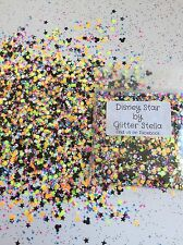 Nail Art Glitter ( Disney Star)10g Mickey Mouse Shape, Multicoloured, Stars Neon
