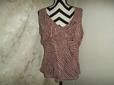 Mlle Gabrielle size XL striped sequence lined mixed/brown shell top