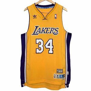 Los Angeles Lakers Shaquille O'Neal #34 Hardwood Classics Jersey Men M Medium