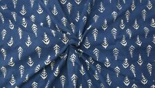 Indian Block Print Thick Fabric 5 Yard Handmade Canvas Upholstery Fabric 350 GSM