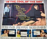 """IN THE COOL OF THE DAY Billboard Six sheet US 81""""x81"""" Movie poster Film 1963 C7"""
