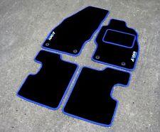 Black/Blue Car Mats To Fit Vauxhall Corsa D VXR (06-14) + Arden Edition Logos