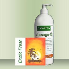 "Esana SPA Aroma-Massageöl ""Exotic"" für Beauty & Wellness 1 Liter mit Dosierpumpe"