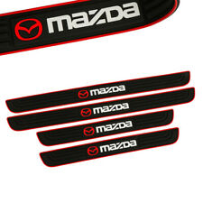 X4 RED Border Rubber Car Door Scuff Sill Cover Panel Step Protector For MAZDA