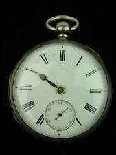 ANTIQUE LICKERT & SON 1850s ENGLISH SILVER HUNTER FUSEE POCKET WATCH by NORWICH