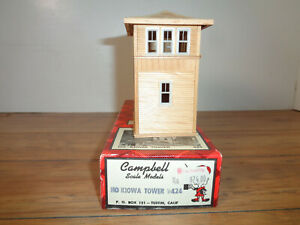 CAMPBELL SCALE MODELS HO SCALE # 424 KIOWA TOWER PARTIALLY ASSEMBLED KIT
