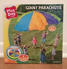PARACHUTE Play Day Giant 12ft  8 handles double stitch preschool classroom