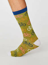 Thought Bamboo Olive Green Bicycle Socks Anti-Bacterial One Size 7-11 Ethical