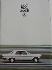 Brochure Mercedes - Benz 230C / 280C / 280CE de 01 - 1977