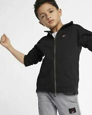Jordan Flight Lite Little Kids Full-Zip Hoodie 855940-023 Black; Sizes 6 or 7