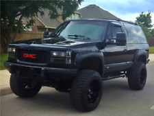 Paintable Black 92-94 GMC Jimmy Blazer Pocket Rivet Fender Flares Smooth Bolt On