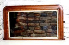 Antique Edwardian Parquetry Walnut Mantel Mirror [PL3907]