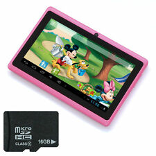 "20GB 7"" Android 4.2 Kids Tablet PC MID for Children 4GB + 16GB Memory Card PinkA"