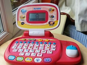 VTECH MY LAPTOP CHILD'S KID'S EDUCATIONAL TOY PINK LEARNING PLAY 1554 WORKING