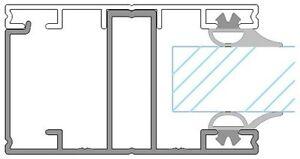 Verlegeschiene für 16mm Stegplatten - Seitensprosse ab € 12,90 per Meter
