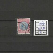 Nederland, Netherlands, wilhelmina, hangend haar, 47A, gebruikt, Topzegel!