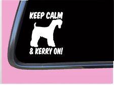 "Keep Calm Kerry Blue Terrier Tp 556 vinyl 6"" Decal Sticker dog breed"
