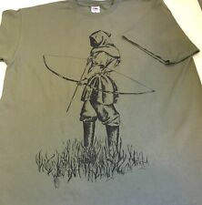 THE ARCHER ARCHERY SCREEN PRINTED T SHIRT, MEDIEVAL THEME DESIGN
